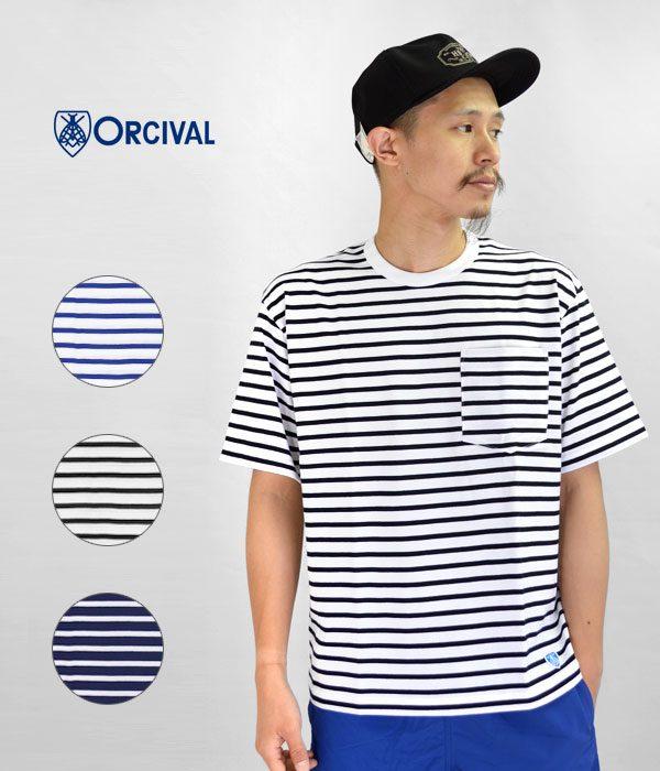 オーシバルボーダーポケットTシャツ