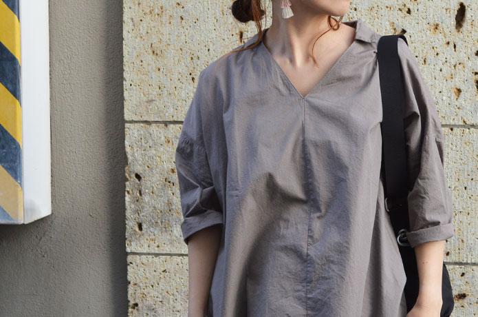 マオメイドのシャツワンピースコーディネート