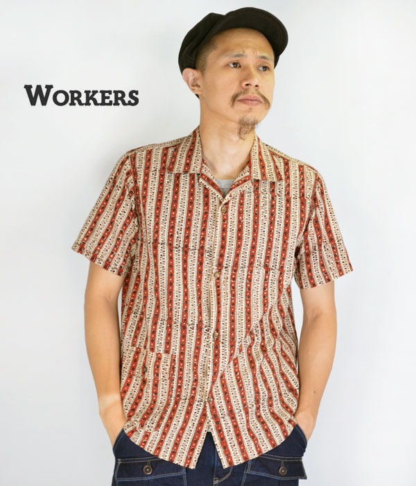 ワーカーズのオープンカラーシャツ