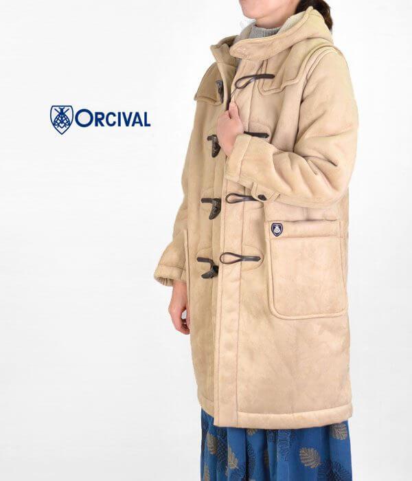 オーチバル/オーシバル (ORCIVAL) フェイクムートン トグルボタン ダッフルコート RC-8920NFMの画像