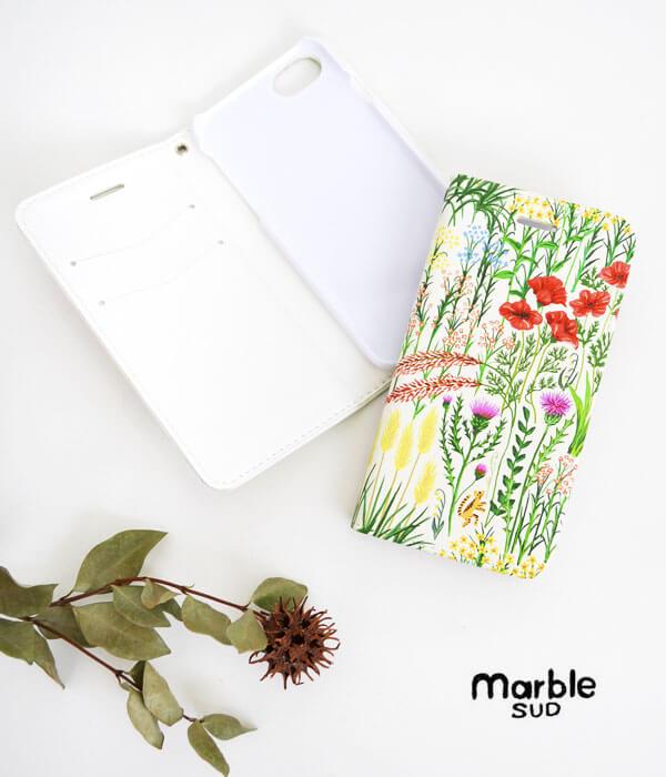 マーブルシュッド(marble SUD) iPhone ケース NB-タイプ ワイルドフラワー iPhone6/6s/7/8対応 スマホケース 099S049169の画像