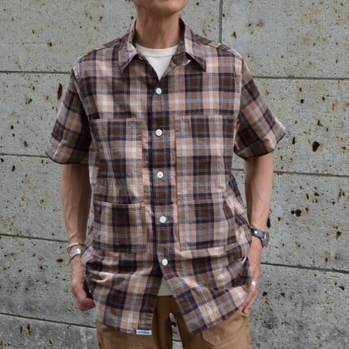 ササフラス(SASSAFRAS) Leaf Pruner Half 1/2 半袖チェックシャツ