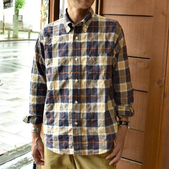 トップジミーのメンズコーディネート画像 シュガーケーン (SUGARCANE) 長袖マドラスチェックシャツ SC28445