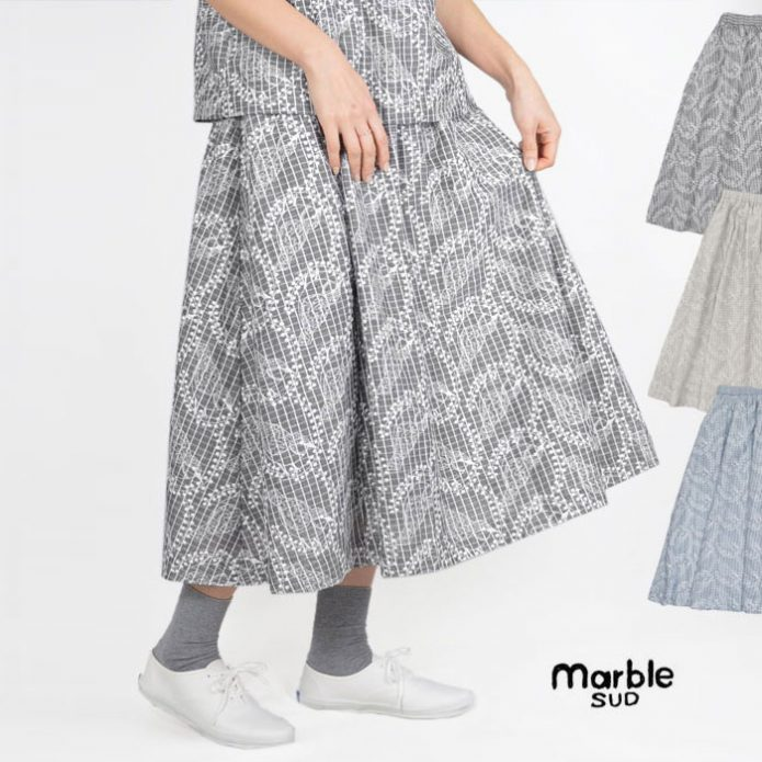 トップジミーのマーブルシュッドセール画像 EMB Leaf×Bird Skirt 07AS033024