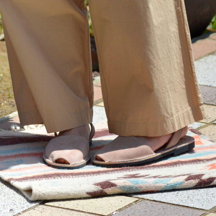 トップジミーのレディースコーディネート画像 ミボ (mibo) Abarca Sandal スエードサンダル 靴 340