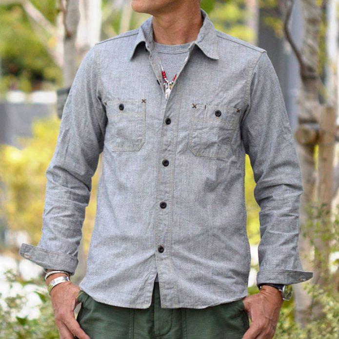 フリーホイーラーズ (FREEWHEELERS) NEAL ニールシャツ 長袖ワークシャツ シャンブレーシャツ 1913002 2013003