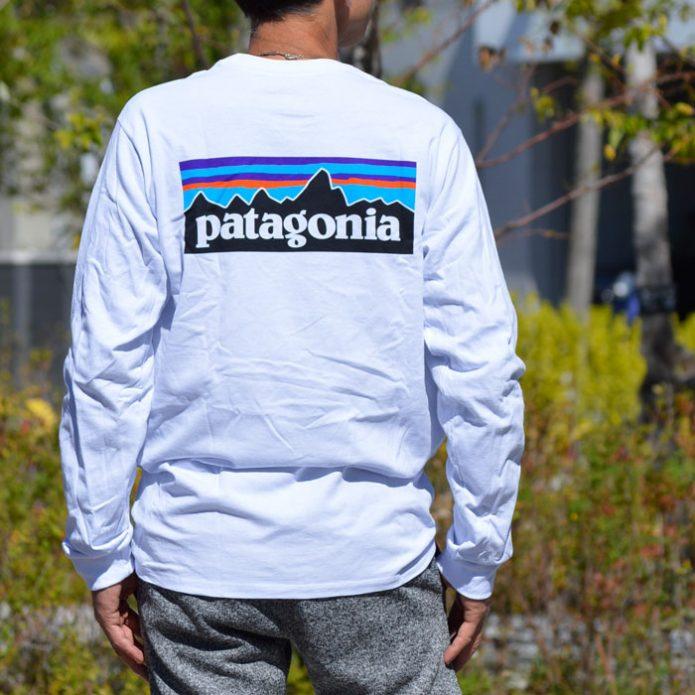 パタゴニア (PATAGONIA) メンズ ロングスリーブ P-6 ロゴ レスポンシビリティー 長袖プリントTシャツ 38518