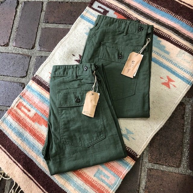 オアスロウ (orSlow) US ARMY FATIGUE PANTS *Button Fly 01-5002