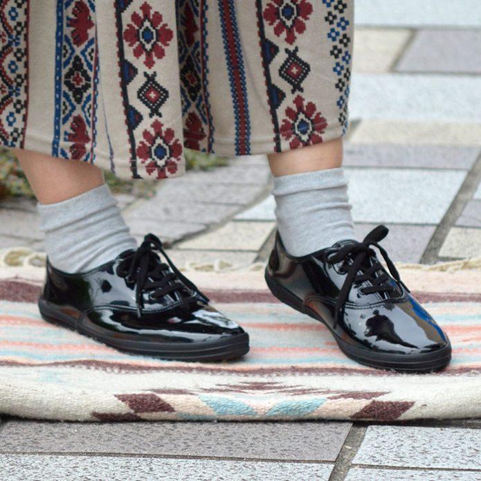 トップジミーのレディースコーディネート画像 ケッズ (KED'S) CHAMPION OXFORD ENAMEL ローカット エナメルスニーカー 靴 シューズ 8441