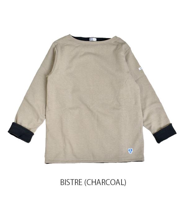 オーチバル/オーシバル (ORCIVAL) コットンロード フリースライニング バスクシャツ 長袖ボートネックTシャツ ボーダーカットソー RC-9104