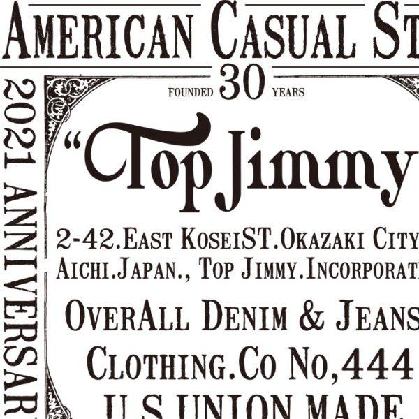 トップジミー デラックスウエアの別注Tシャツの画像