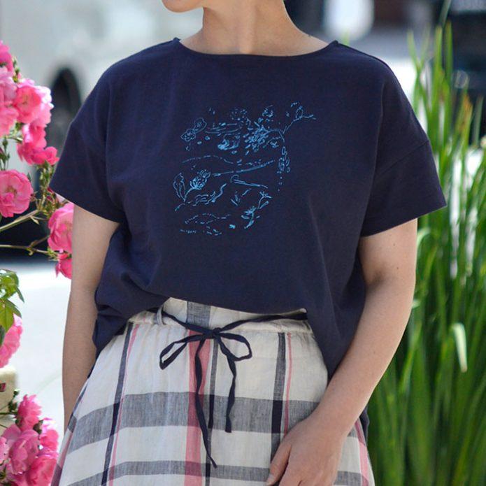 トップジミーのレディースコーディネート画像 リラシク (LILASIC) MURKOS プリントTシャツ SN1220