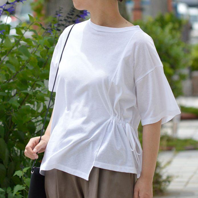 トップジミーのレディースコーディネート画像 マオメイド (MAOMADE) ドロストデザインTシャツ 半袖カットソー プルオーバー 121210