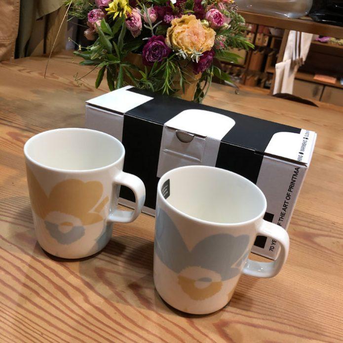 マリメッコ marimekko Unikko マグカップセット 70周年限定カップ アニバーサリー限定ボックス入りマグカップセット