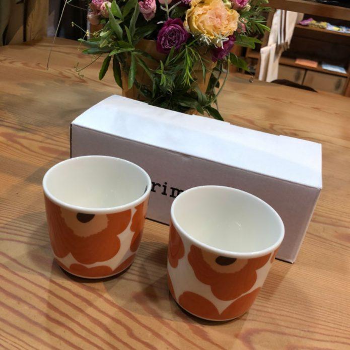 マリメッコ marimekko Unikko コーヒーカップセット(ハンドルなし)