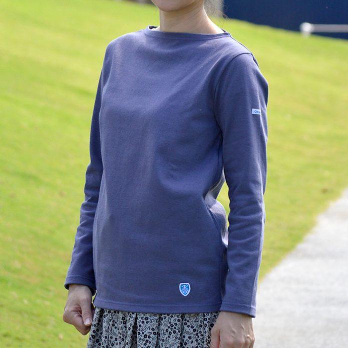 トップジミーのレディースコーディネート画像 オーチバル/オーシバル (ORCIVAL) BOAT NECK L/S P.O. コットンロード ボートネック ロングスリーブシャツ 長袖Tシャツ B211